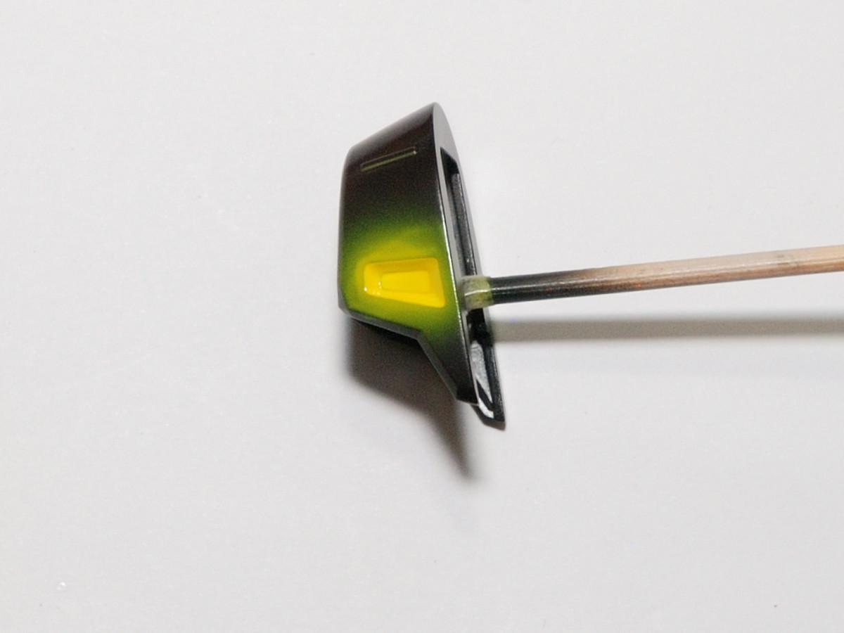 エナメル塗装での色塗分け