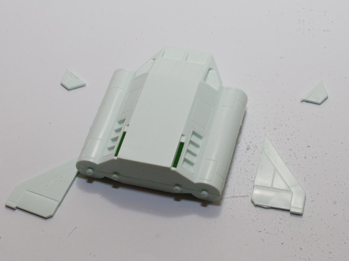 コアブースターの翼を切断