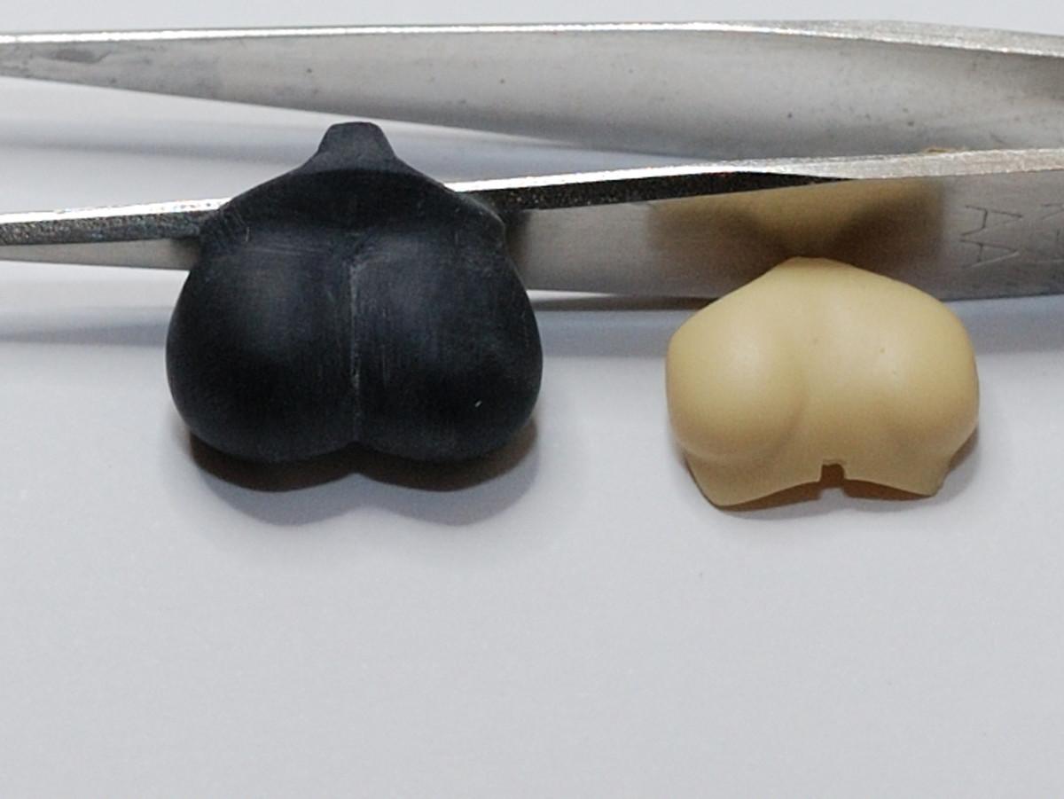 メガミデバイス 牛若丸胸部パーツ改造