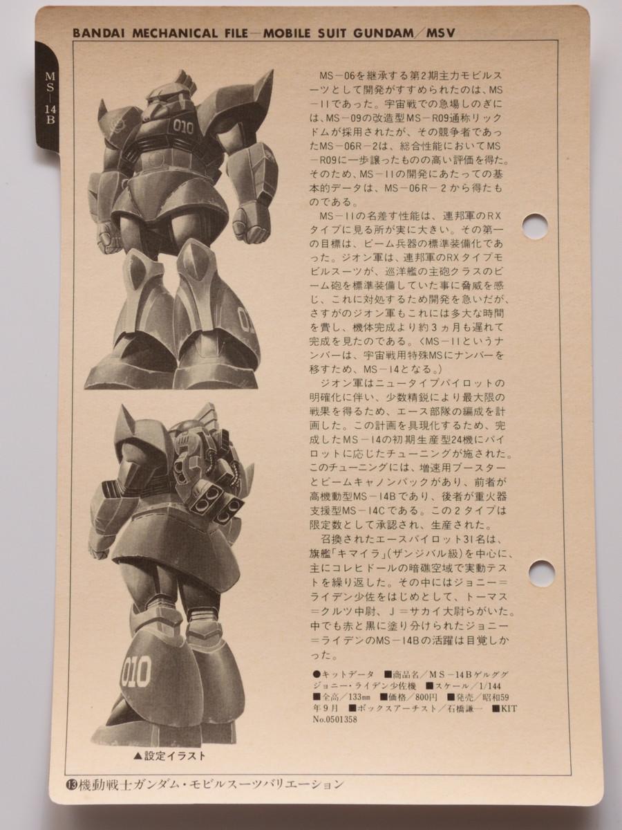 旧キットジョニーライデン専用ゲルググ