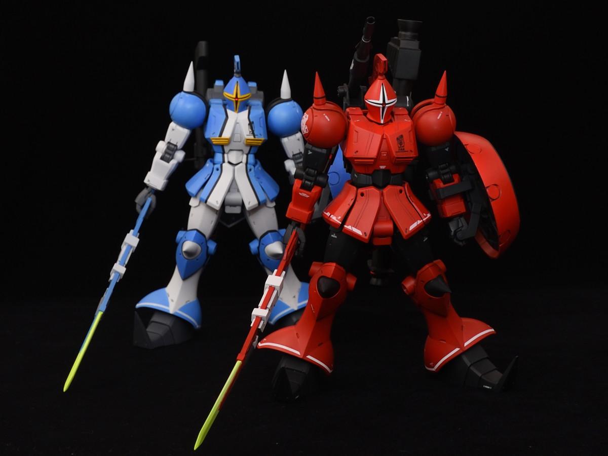 真紅と青の稲妻