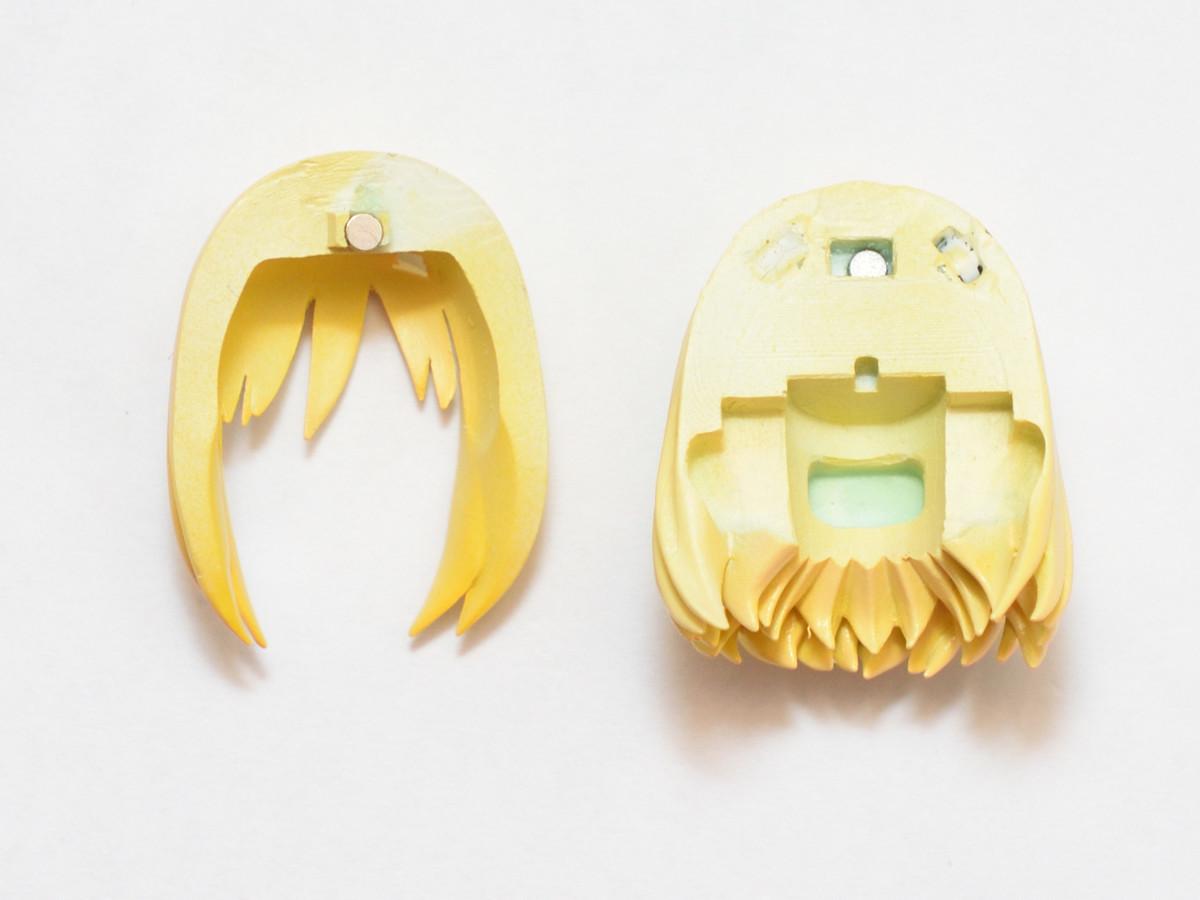 レジンパーツのネオジム磁石工作 メガミデバイス改造パーツ