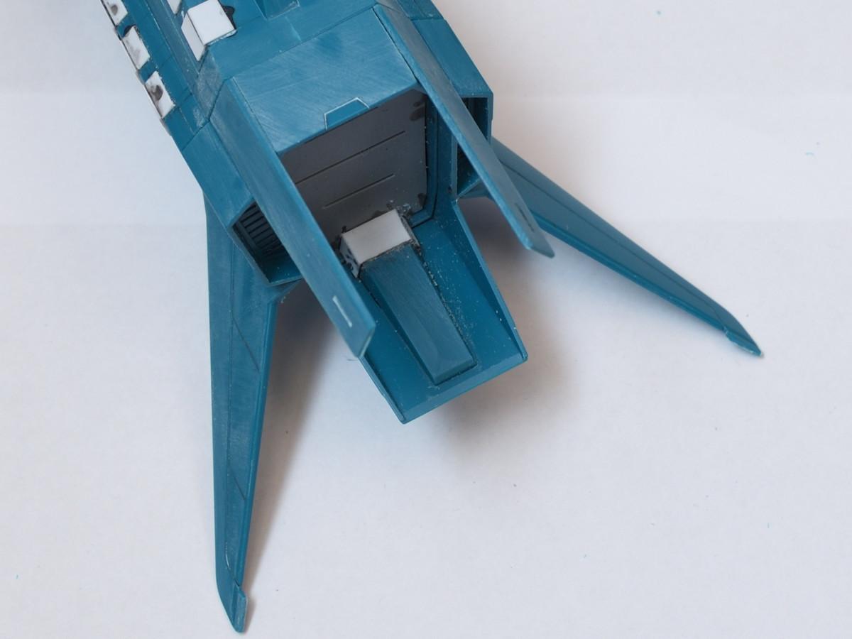 ミサイルコンテナのプラ板工作