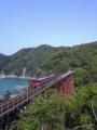 餘部鉄橋に汽車が来た