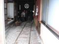 勝山のお雛まつりで見かけた商家のレール