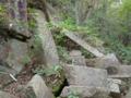 神武岩(屏風岩)の基部 日本ピラミッド葦嶽山