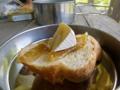 奈良漬とチーズ そして塩味の効いたバケット 三徳山