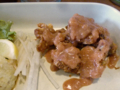 定食の鶏の唐揚げ 平井食堂