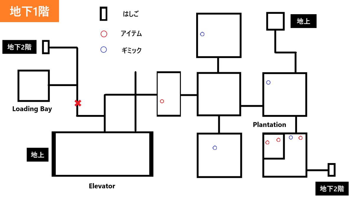 【Raft】Tangaroa《地下1階地図》