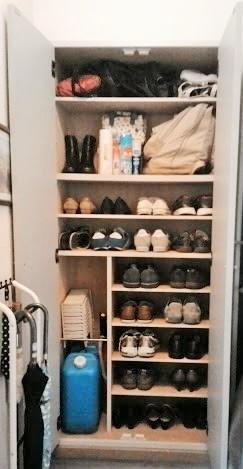 防災バッグの置き場所を靴箱へ変更 after