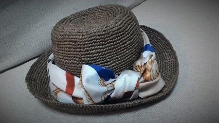 シルクスカーフ 帽子