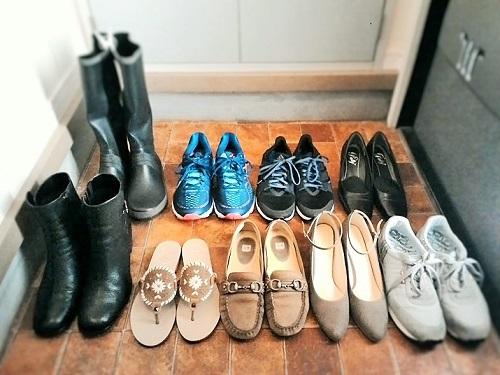 靴は全部で9足に