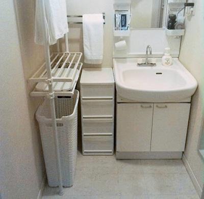 賃貸の狭い洗面所の収納公開