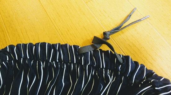 ワンピースをリメイクしたスカート