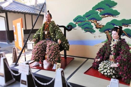 名古屋城の菊人形展示