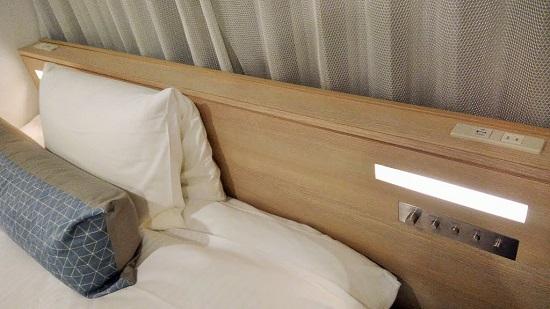 抱き枕と、固さを選べる枕