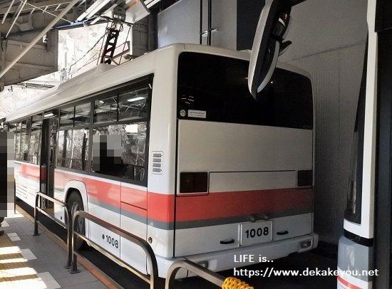 リニューアルされた電気バス