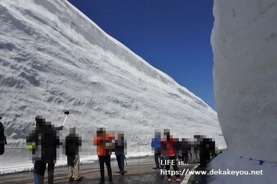 雪の大谷ウォーク最高地点へ