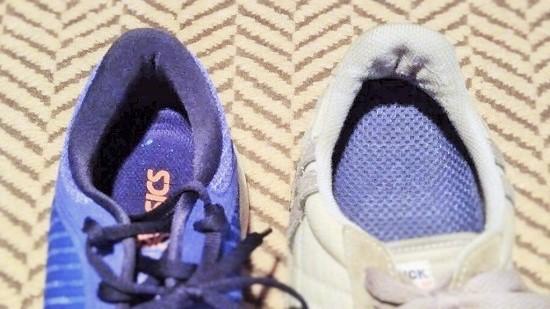 スニーカー踵の大きさを比較