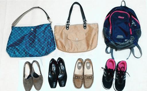 春に活躍している靴と鞄