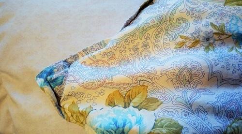 羽毛布団の表と裏
