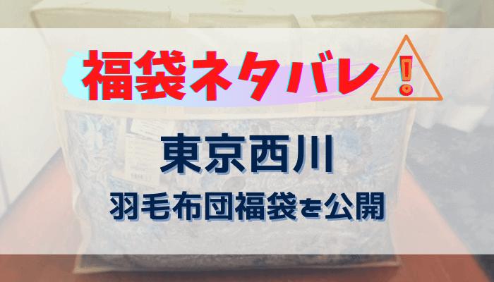 【福袋】東京西川の羽毛布団を購入!内容ネタバレ【高島屋】