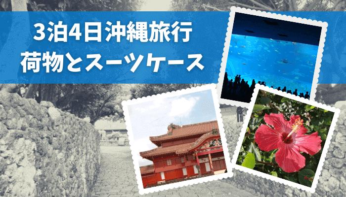 【3泊4日沖縄旅行】荷物とスーツケース公開【愛用品】