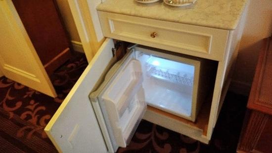 冷蔵庫は小さめ