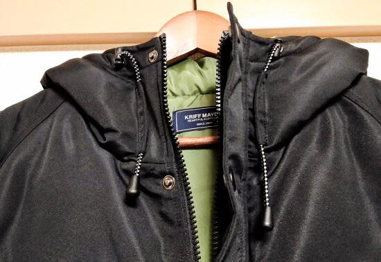 ジャケットはラグランスリーブ