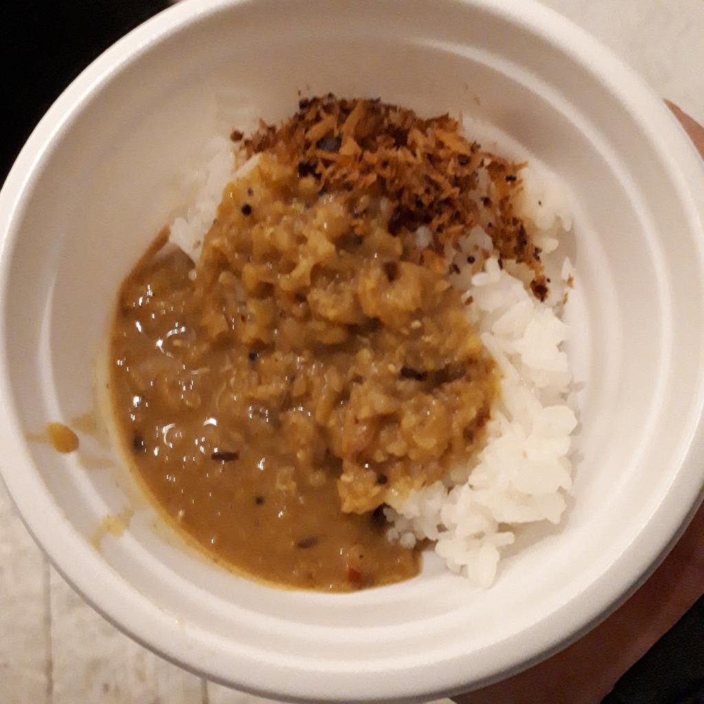 スリ飯屋Malanka レンズ豆とクミンとココナッツ