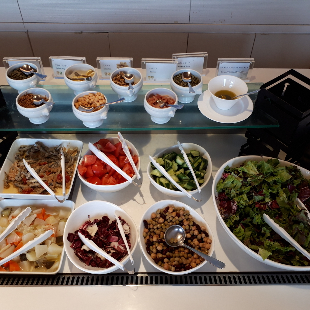 シェラトングランドホテル広島 ブッフェレストラン ブリッジ 朝食 サラダコーナー
