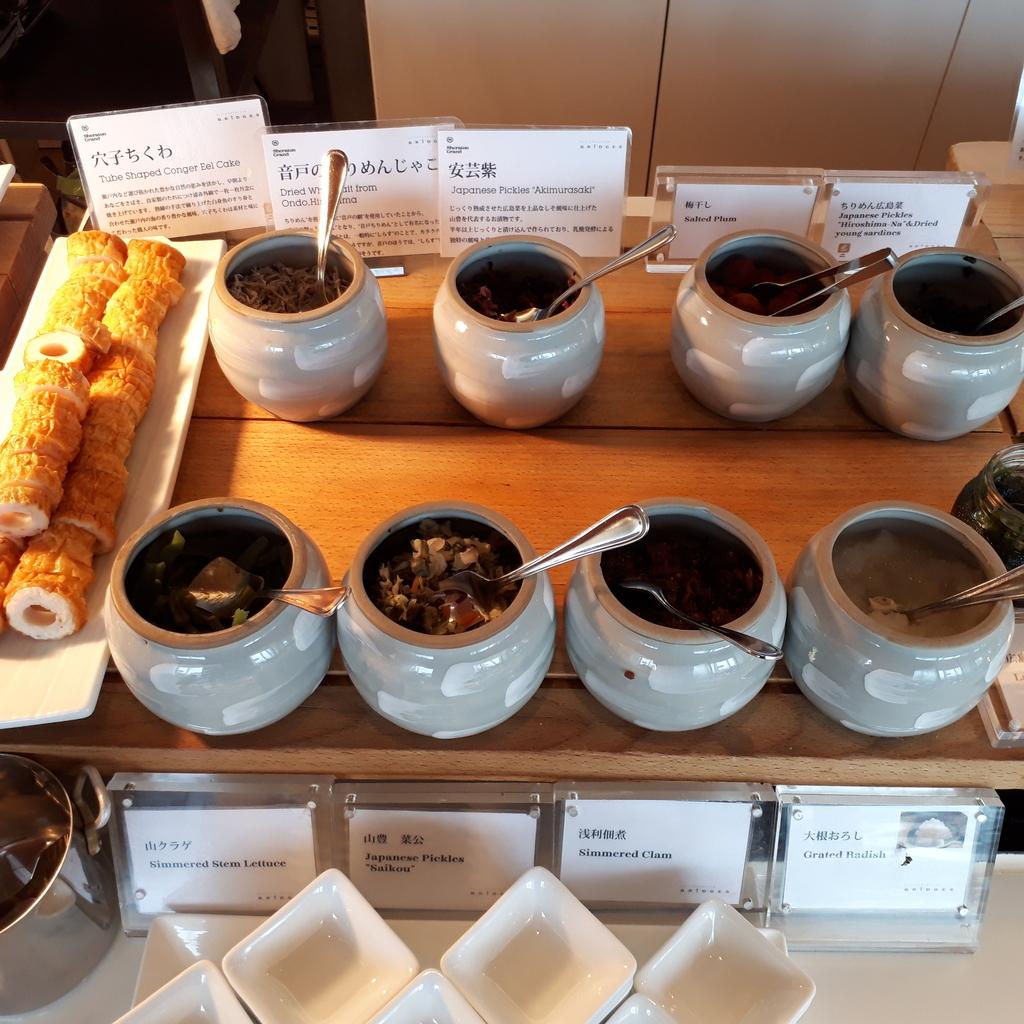 シェラトングランドホテル広島 ブッフェレストラン ブリッジ 朝食 ご飯のおとも