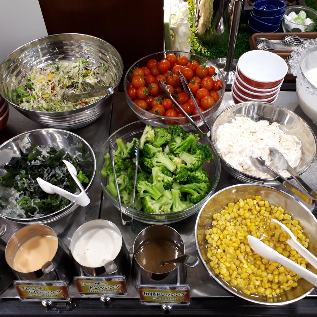 ホテル法華クラブ鹿児島 朝食  サラダコーナー