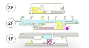 鹿児島空港 スカイラウンジ菜の花 位置図