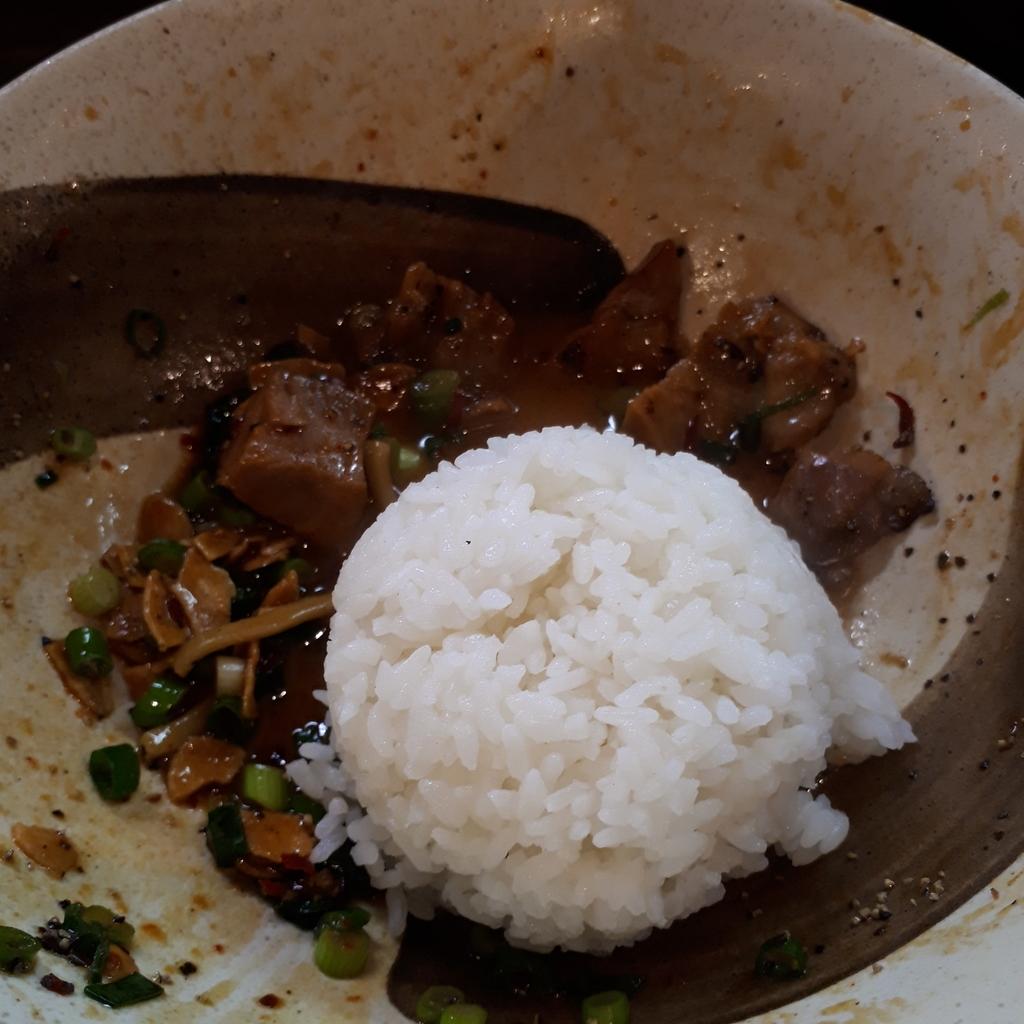 縁乃介商店 汁なしHOT麺 ライスダイブ