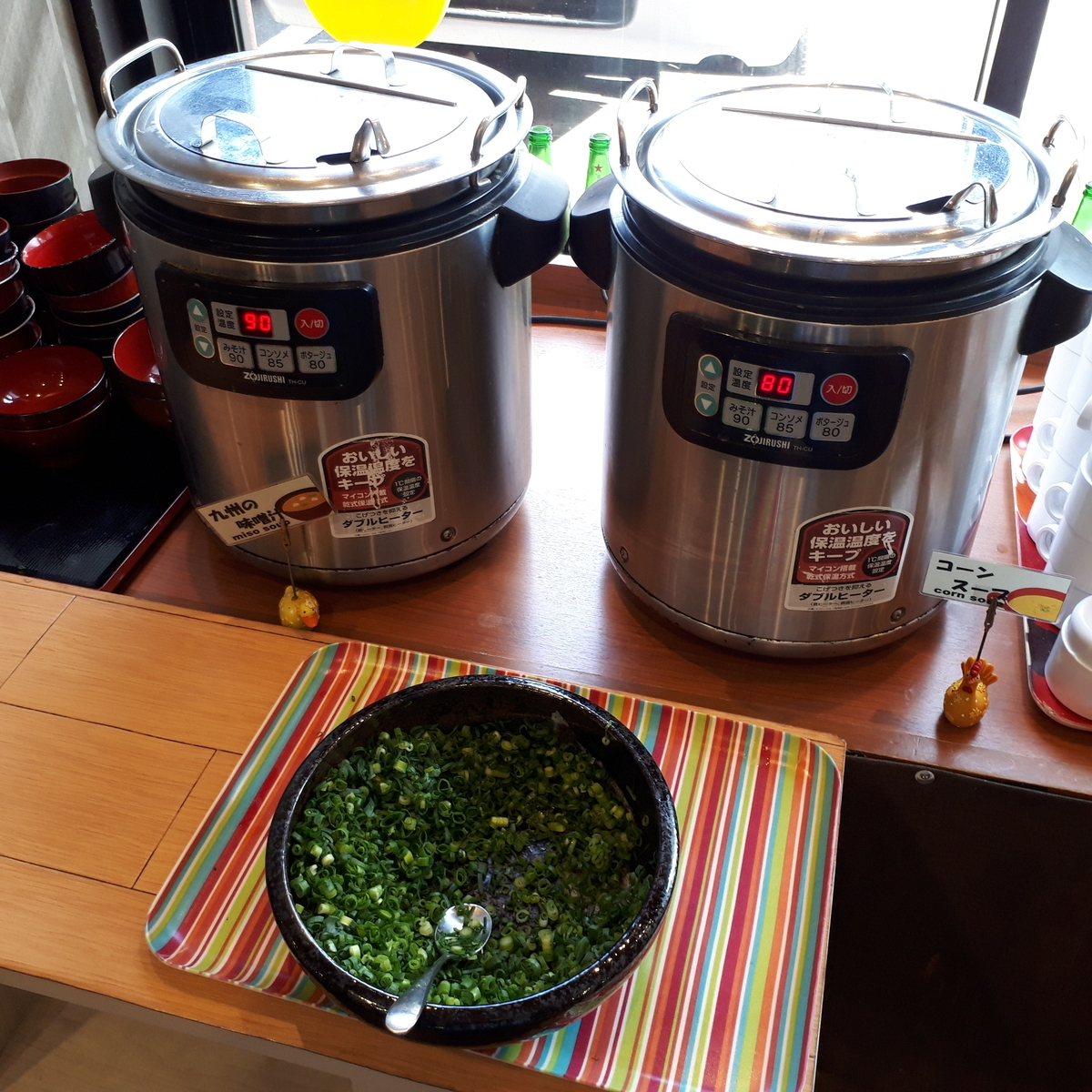 西鉄イン小倉 朝食 みそ汁とコーンスープ