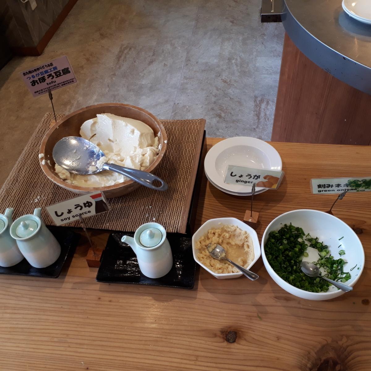 西鉄イン小倉 朝食 おぼろ豆腐