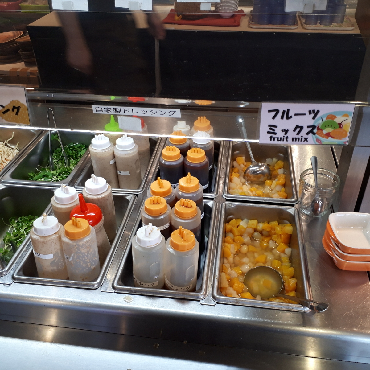 西鉄イン小倉 朝食 サラダ、デザート
