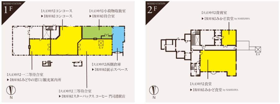 門司港駅 平面図