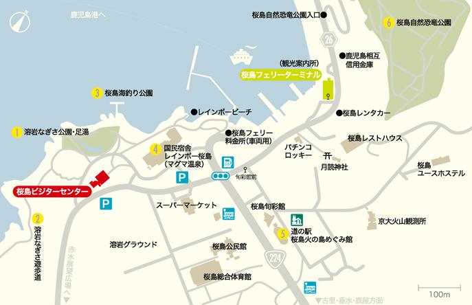 桜島港周辺地図