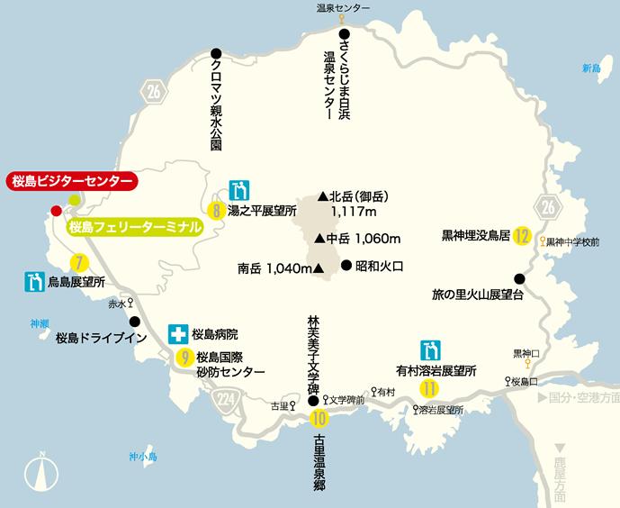 桜島 地図