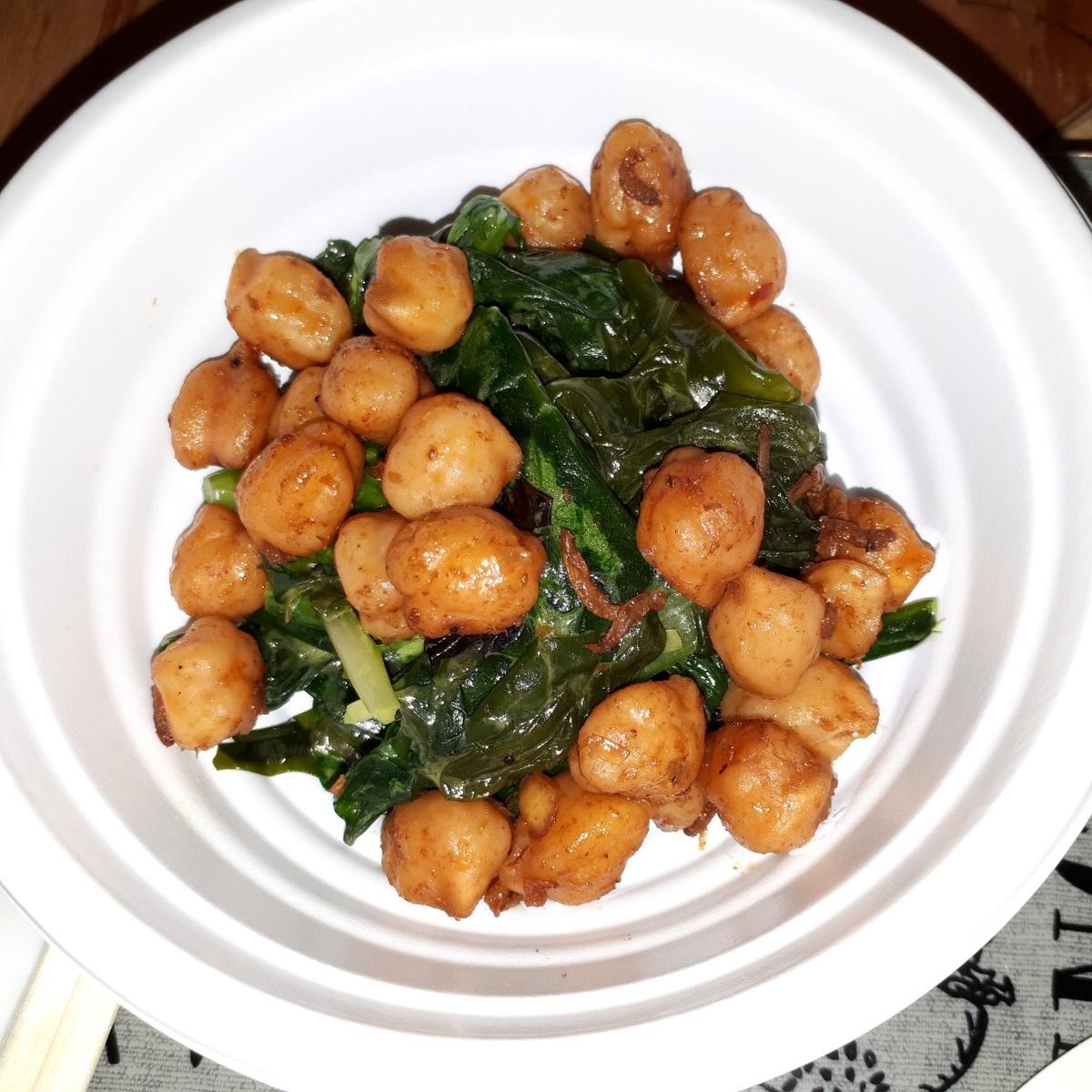 北摂スパイス研究所 北摂野菜と鳴門わかめのピリ辛ひよこ豆サラダ