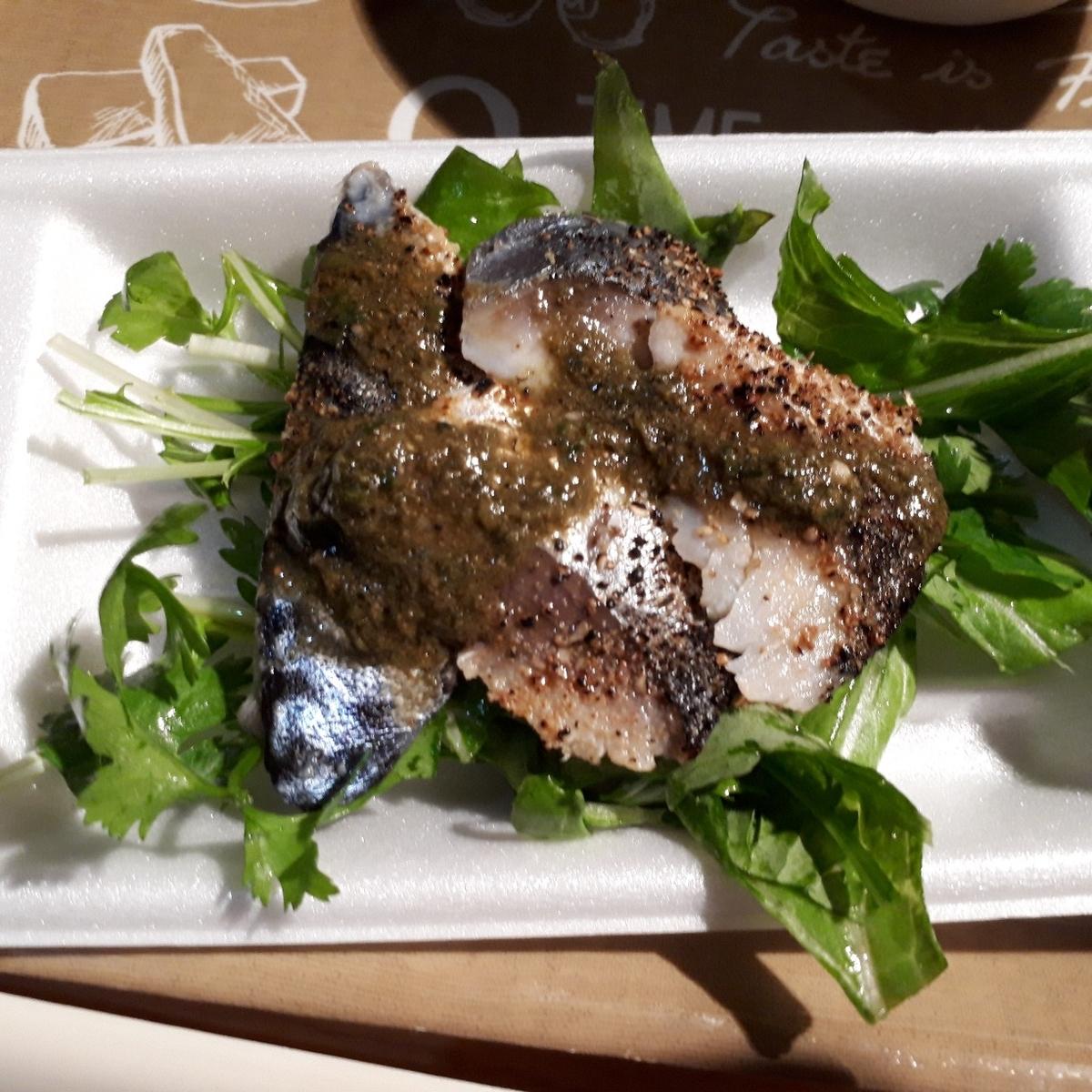 まるた食堂 あぶりシメ鯖のシビレソース