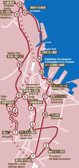 鹿児島交通 まち巡りバス 路線図