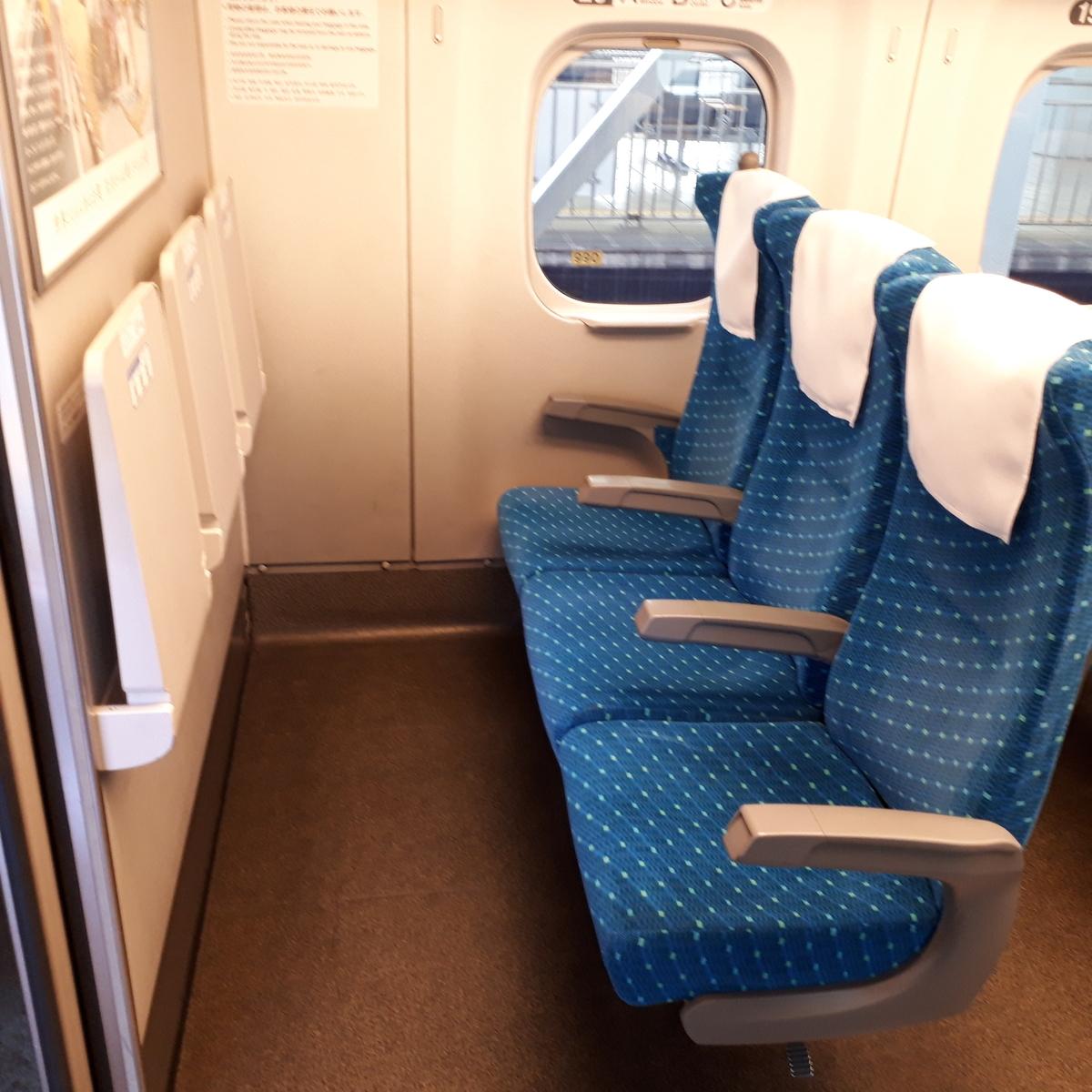 新幹線N700系 のぞみ 普通車 3列席