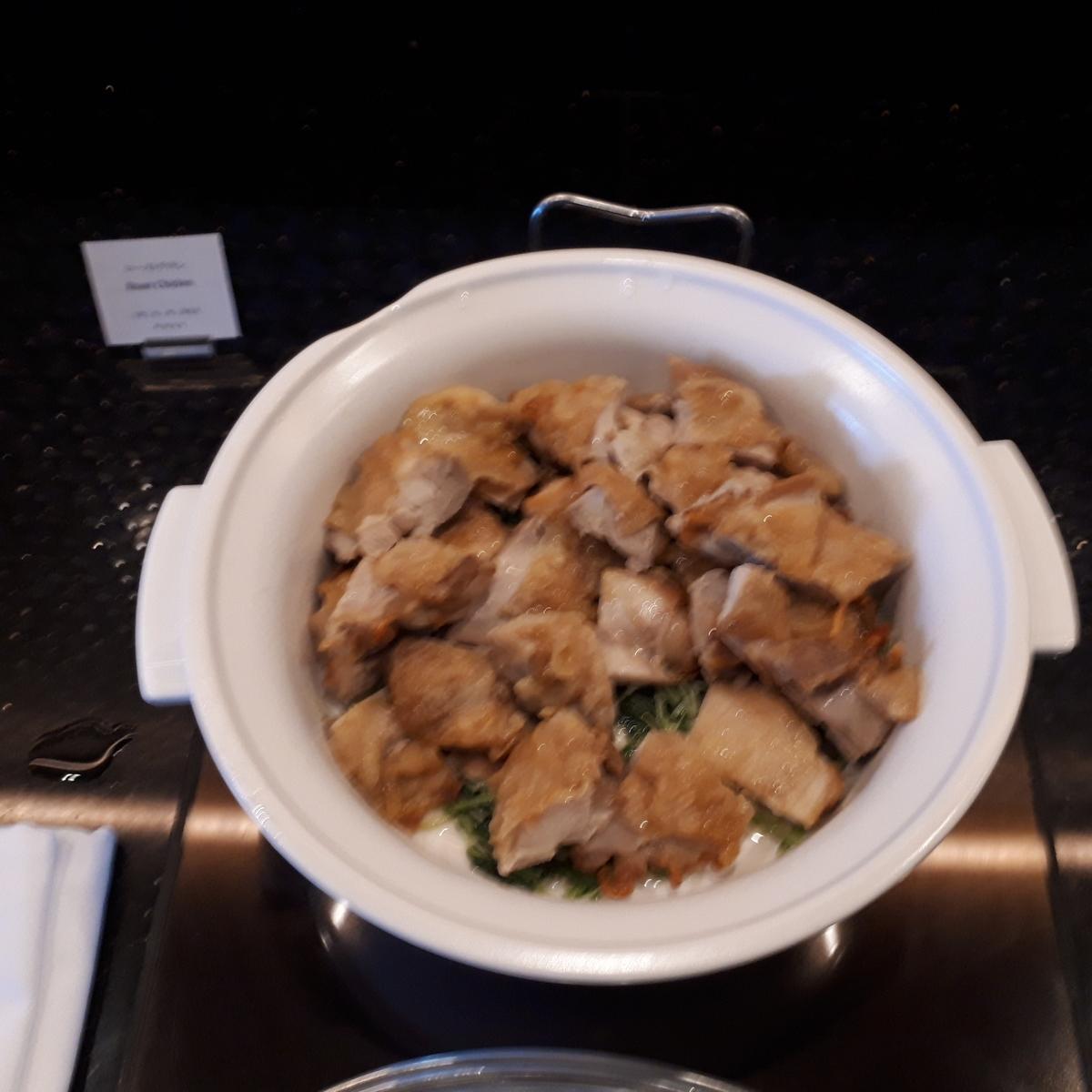 リッツカールトン大阪 クラブラウンジ 夕食前の前菜 ローストチキン