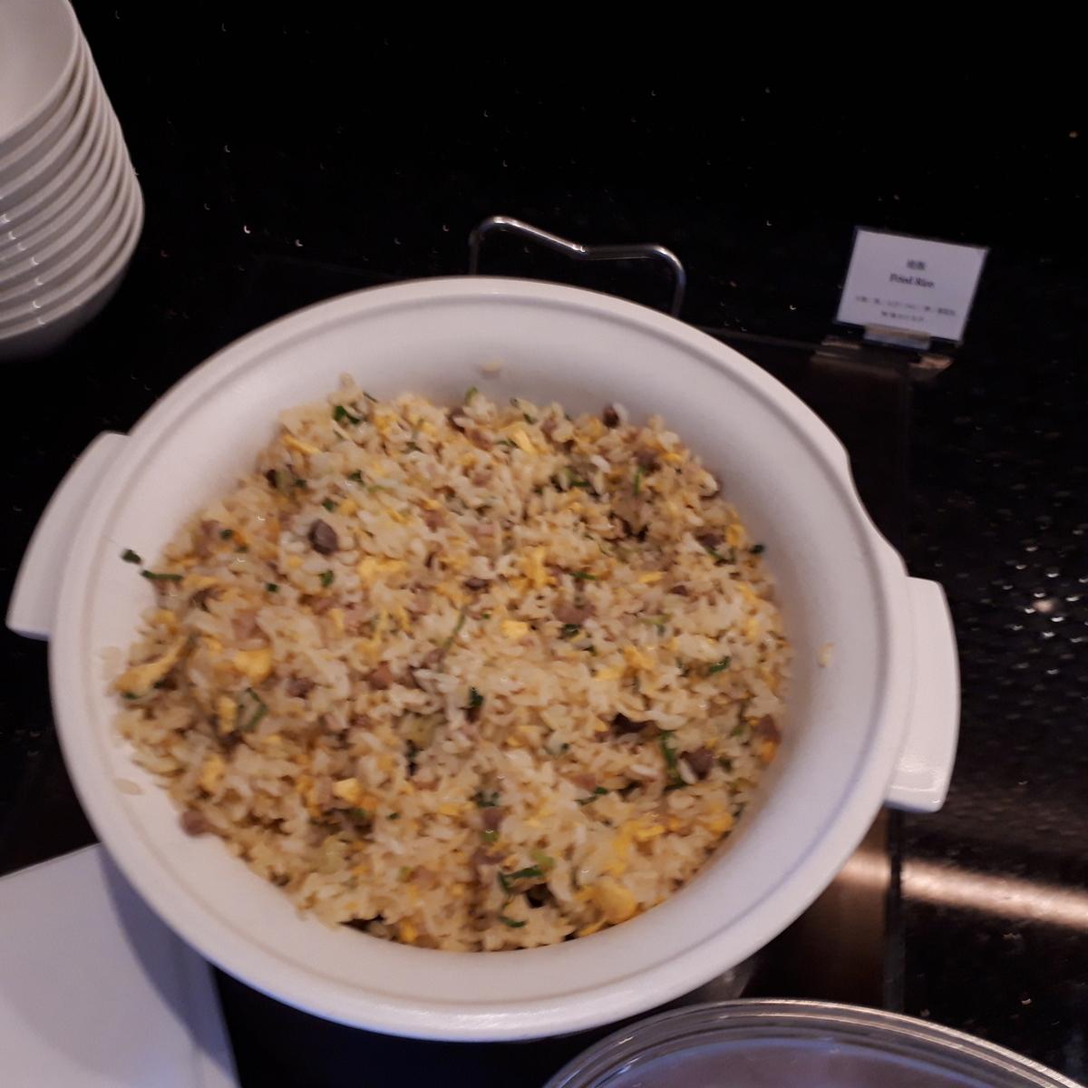 リッツカールトン大阪 クラブラウンジ 夕食前の前菜 炒飯