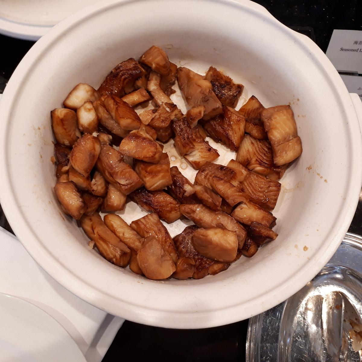 リッツカールトン大阪 クラブラウンジ 朝食 白身魚の照焼