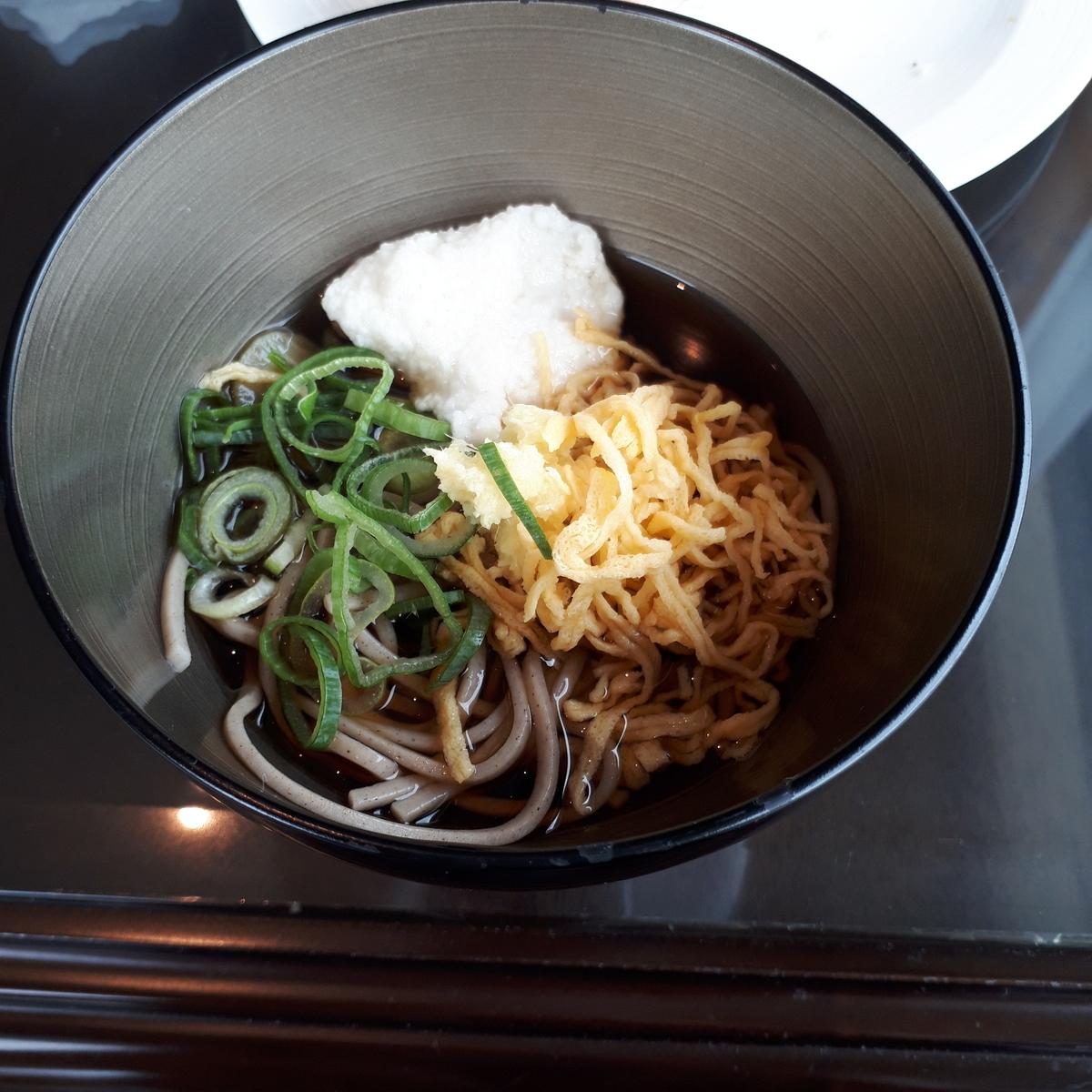リッツカールトン大阪 クラブデラックス 軽食 冷やしそば