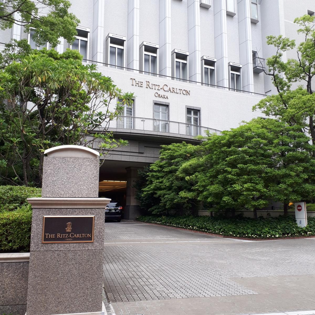 リッツカールトン大阪 正面玄関